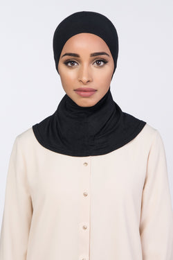 Hijab Underscarf | VOILE CHIC | Black Full Coverage Underscarf
