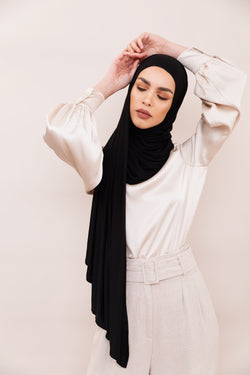 Black Instant Hijab | VOILE CHIC | Slip On Hijab