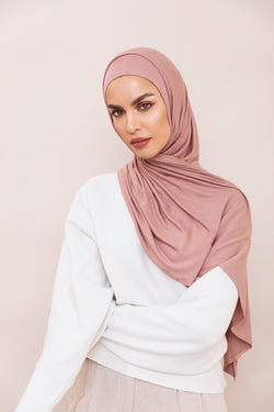 Dusty Rose Instant Hijab | VOILE CHIC | Pre-Sewn Instant