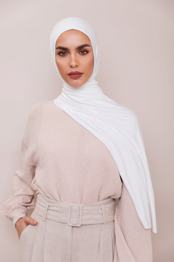 Ivory Instant Hijab | VOILE CHIC | Slip On Hijab