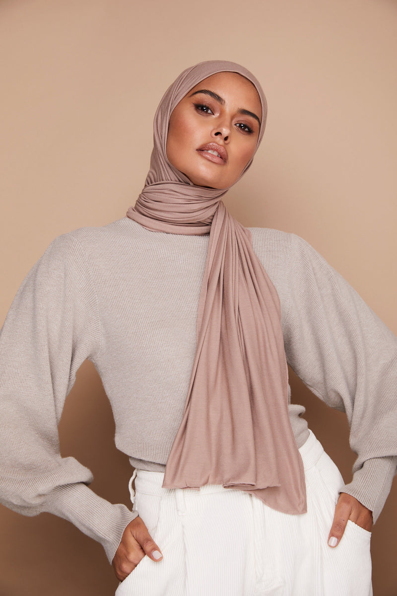 Light Mink Premium Jersey Hijab | VOILE CHIC | Jersey Hijab