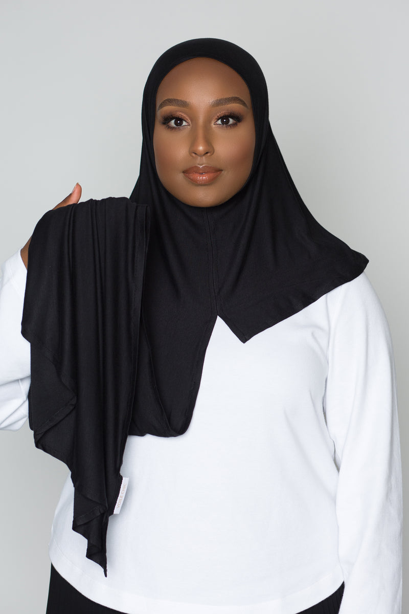 Black Instant Hijab | VOILE CHIC | Pre-Sewn Instant