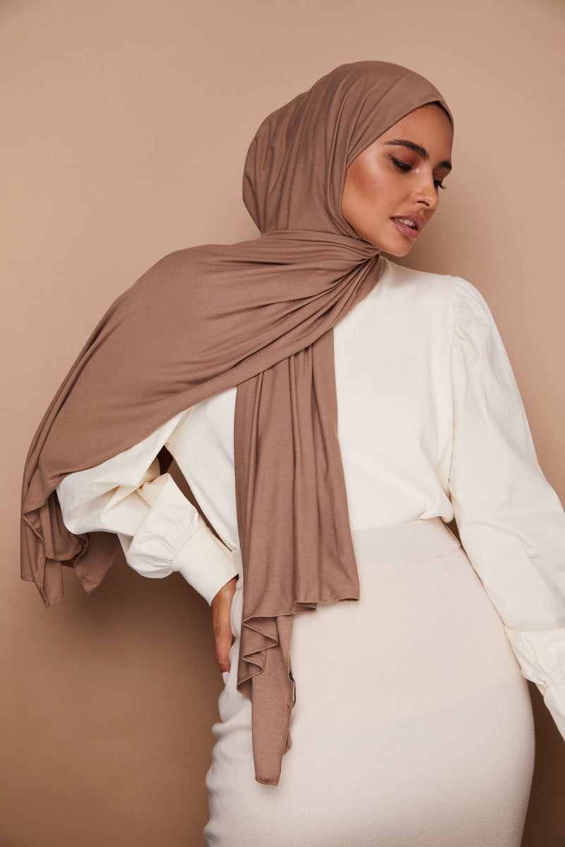 Mocha Mousse Premium Jersey Hijab | VOILE CHIC | Jersey Hijab