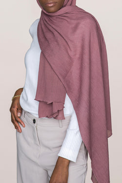 Crinkle Cotton Hijab - Rose Taupe