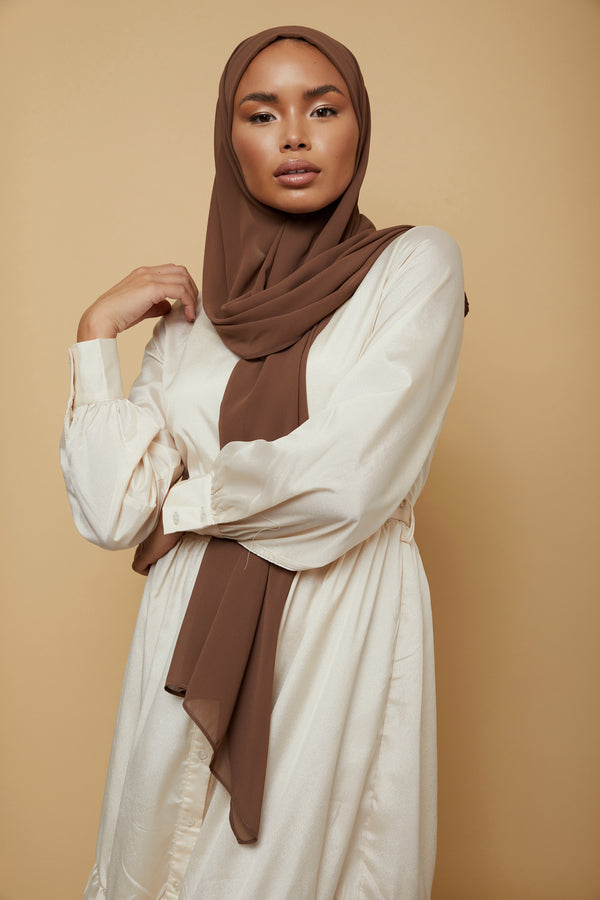 Small Luxury Chiffon Hijab - Stone