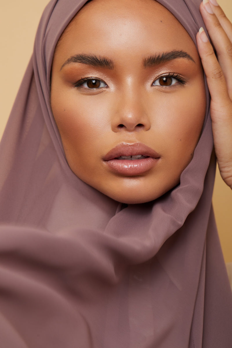 Small Luxury Chiffon Hijab - Rose Taupe