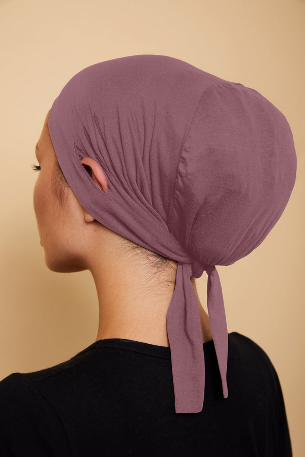Ear Slit Under Scarf | Rose Taupe