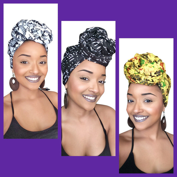 Default type -  - African royalty Headwrap collection - Glamorous Chicks Cosmetics