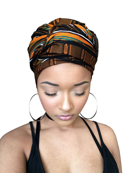 Gorgeous Brown Headwrap - Glamorous Chicks Cosmetics