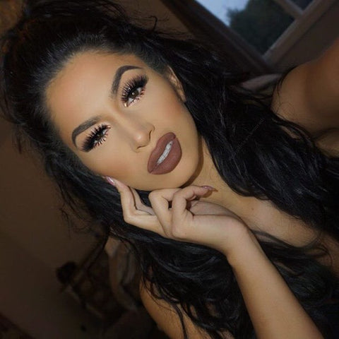Lips -  - Chocolate Fudge   -  Water proof, Smudge proof, transfer proof,  and 24 hour stay Chocolate Brown Matte Liquid lipstick - Glamorous Chicks Cosmetics - 1