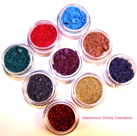 Boardroom Chic Collection (3 best selling sample Earth Tone eye shadows) - Glamorous Chicks Cosmetics