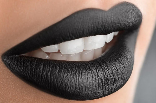 Lips -  - Black Midinight  Black Matte  Liquid Lipstick Lipstain - Glamorous Chicks Cosmetics - 1