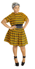 SKIN & HAIR CARE -  - Alicia African Skirt and shirt combo - Glamorous Chicks Cosmetics - 1