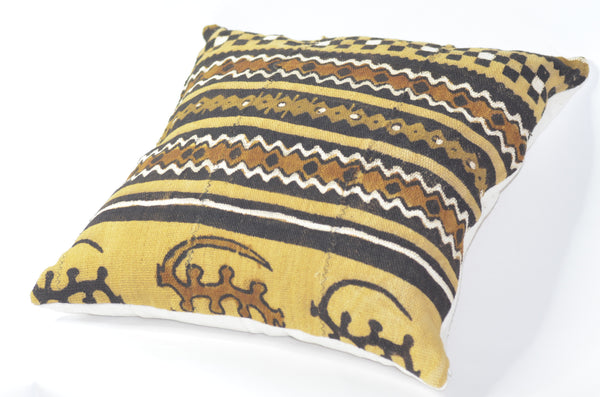 -  - Brown Authentic mudcloth Kelechi  pillows - Glamorous Chicks Cosmetics - 3