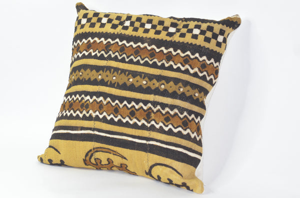 -  - Brown Authentic mudcloth Kelechi  pillows - Glamorous Chicks Cosmetics - 1