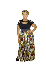 SKIN & HAIR CARE -  - Maxi African Skirt & headwrap combo - Glamorous Chicks Cosmetics - 1