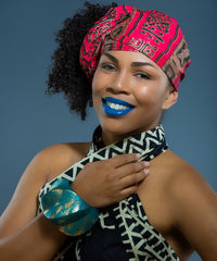 SKIN & HAIR CARE -  - Tyra Wax Print Head wrap - Glamorous Chicks Cosmetics - 1