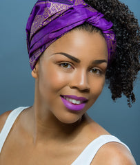 Naomi  Wax Print Head wrap - Glamorous Chicks Cosmetics