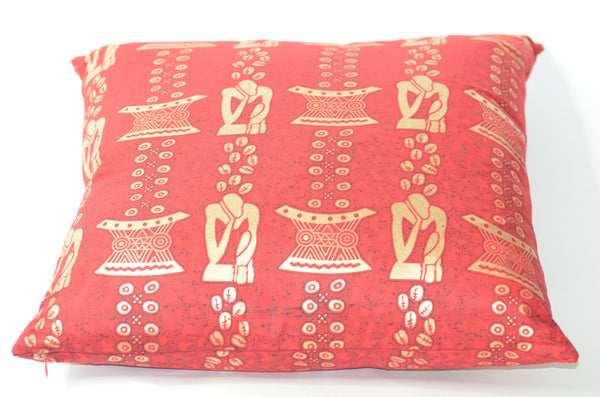 -  - Red African Print pillows - Glamorous Chicks Cosmetics - 1