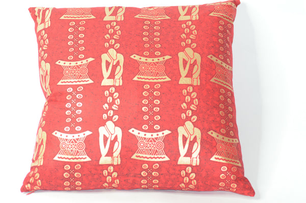 -  - Red African Print pillows - Glamorous Chicks Cosmetics - 2