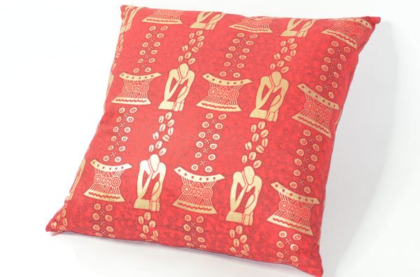 -  - Red African Print pillows - Glamorous Chicks Cosmetics - 3