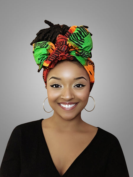 Default type -  - Red, Yellow and Green Best selling Headwrap - Glamorous Chicks Cosmetics - 1