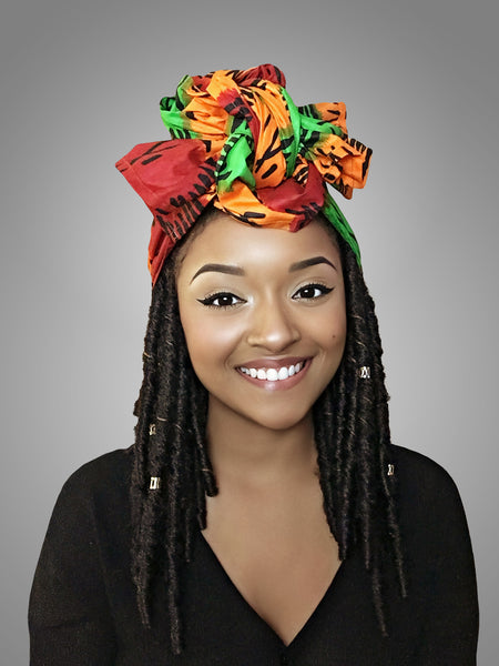 Default type -  - Red, Yellow and Green Best selling Headwrap - Glamorous Chicks Cosmetics - 2