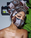 Diana SLIP ON SATIN LINED HEADWRAP AND MASK