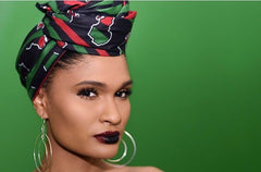 Black Her Majesty Headwrap