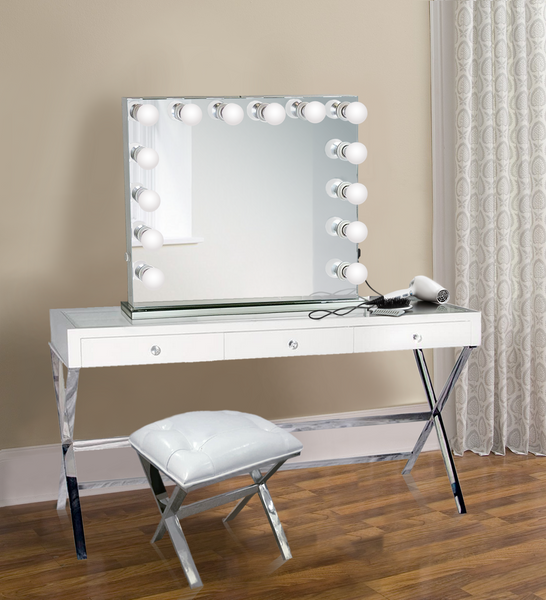 Dimmable Hollywood mirror/Dominique| Table Top Or Wall Mount | Plug-in