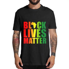 Black Lives Matter Colored Print T-Shirt