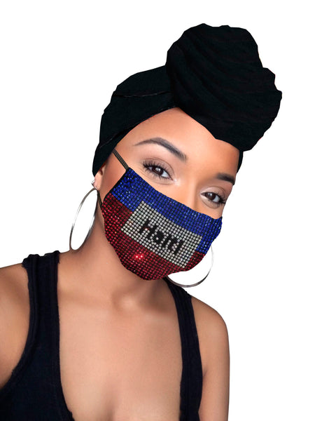 Haiti face mask & Black Headwrap