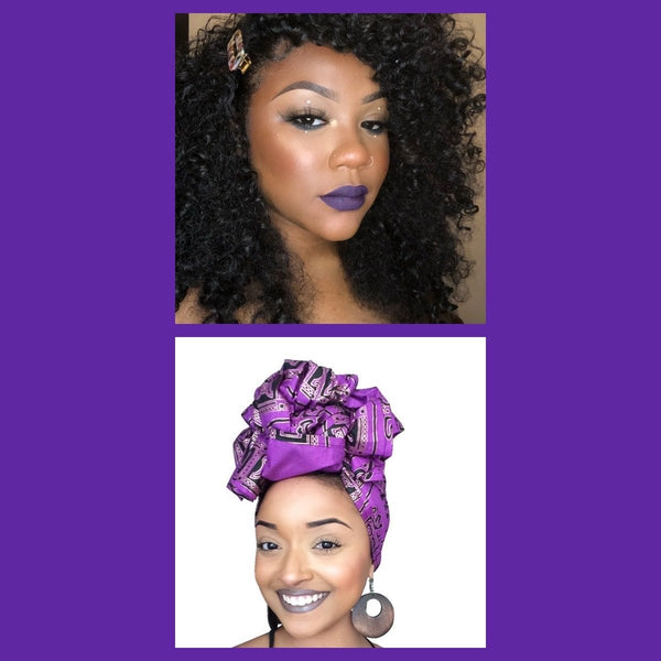 5th ave Headwrap & Matte liquid Lipstick Combo