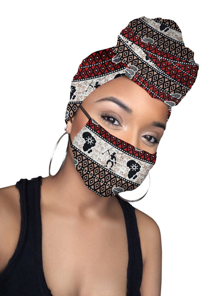Akwasi His & Hers Headwrap and Face Mask combo