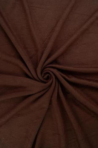Brown Jersey Knit Stretched Fabric Satin Lined Headwrap