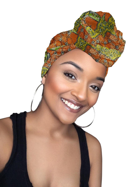Mavis Limited Edition Holiday Gold Print African Headwrap