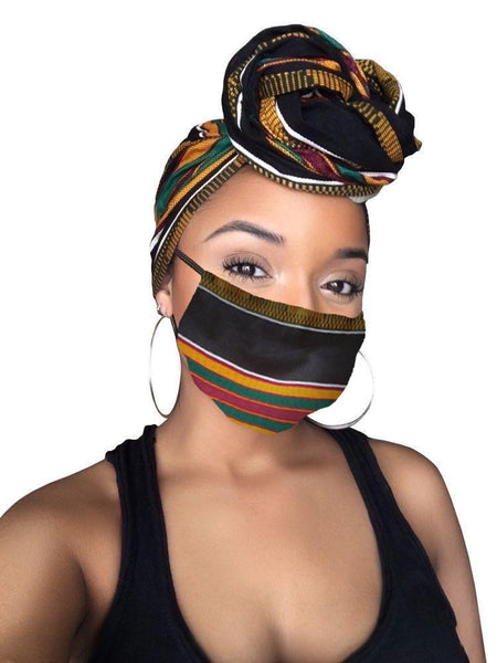 Sheer Royalty  Face Mask Only (No headwrap included)