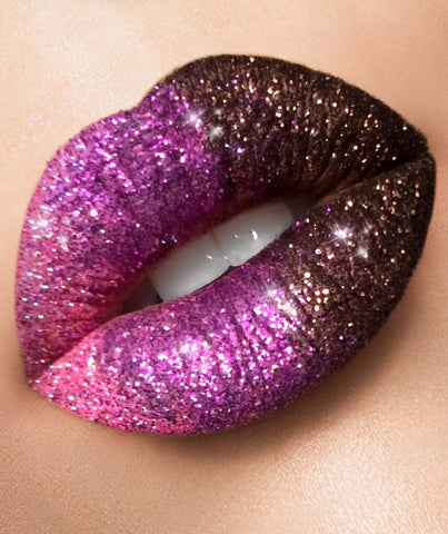 Avant-garde glitter lip collection