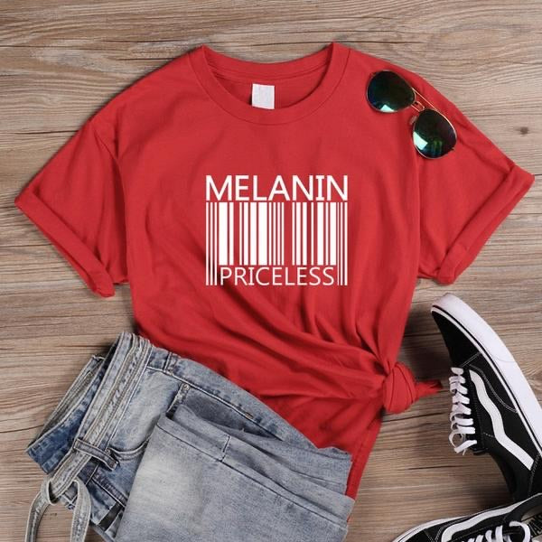 Melanin Priceless Red T-Shirt