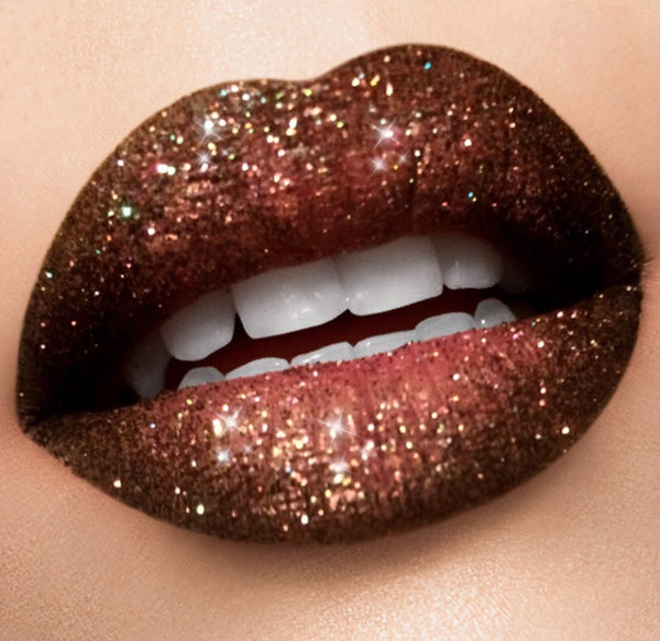 Double fudge Brown glitter lip collection