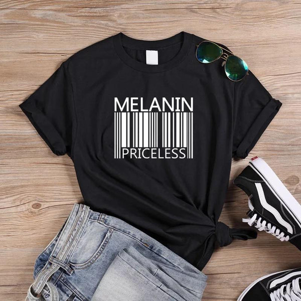 Melanin Priceless Black T-Shirt
