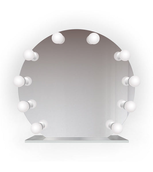 "Iris 28""x25"" Curved Lighted Glam Vanity Mirror 