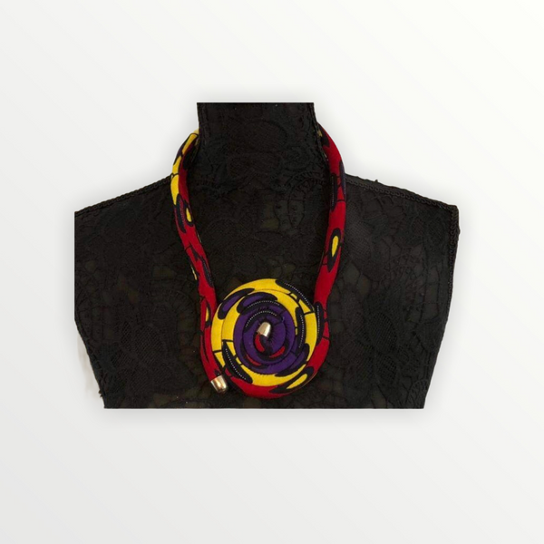 Safiya Red,Yellow and Red Necklace
