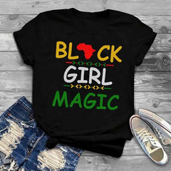 Black Girl Magic Colored Print T-Shirt