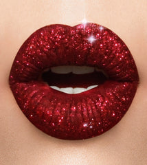 Red wine glitter lip collection