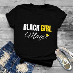 Black Girl Magic Black and Yellow Print T-Shirt