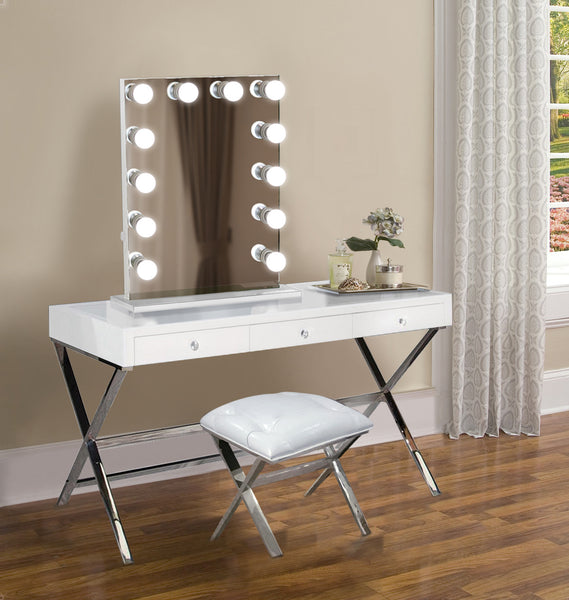 Martinique Dimmable Hollywood mirror | Table Top Or Wall Mount | Plug-in