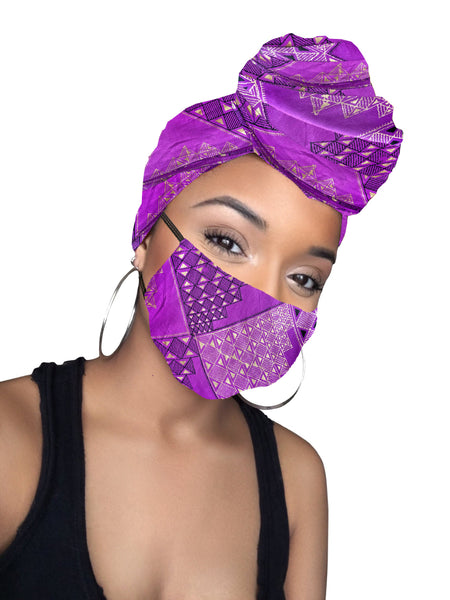 Khari Headwrap and Face Mask combo