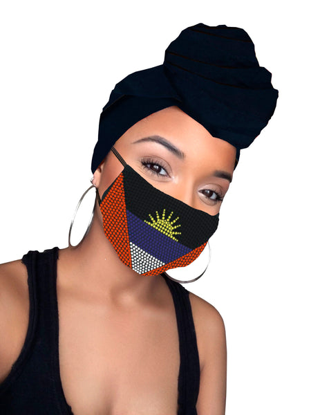 Antigua headwrap and mask