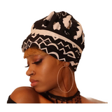 Liz Slip On Satin Lined Headwrap and Mask